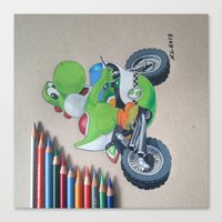 yoshi Canvas Prints featuring Yoshi by Reagen Lyle