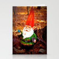 gnome Stationery Cards featuring Mr. Gnome by Olive Coleman Photography