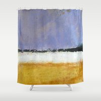 rothko Shower Curtains featuring Mark Rothko Interpretation Acrylics On Paper by James Peart