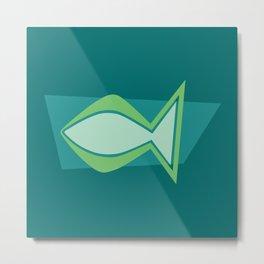 Jesus Fish — Ichthys Christian symbol Metal Print
