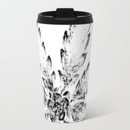 Black & White (Cannabis Resin Leaf) Travel Mug
