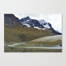 Athabasca Glacier in the Columbia Icefields, Jasper National Park Canvas Print