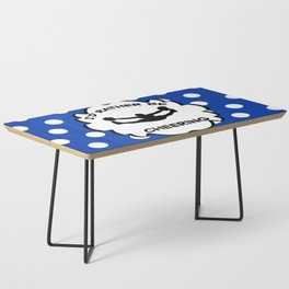 I'd Rather Be Cheering Design in Royal Blue Coffee Table