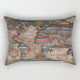 Distress World Rectangular Pillow