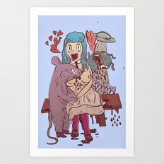 Let's get friendly, stranger Art Print