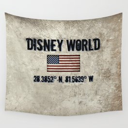 The Longitude and. Latitude of WDW in Orlando, FL Wall Tapestry