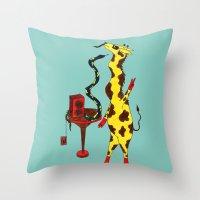 dance Throw Pillows featuring Dance by Anna Shell