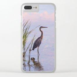Blue Heron In Assateague Clear iPhone Case