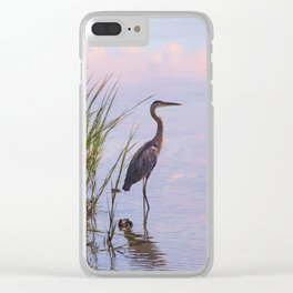 Blue Heron In Assateague Clear iPhone Case