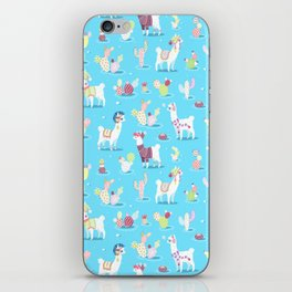 Alpaca Pattern iPhone Skin