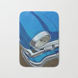 Classic Retro Car Art Series #1 in Harbor Blue Bath Mat