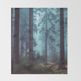 In the Pines (Vertical) Throw Blanket