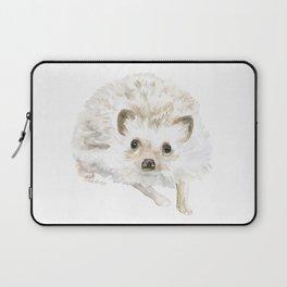 Watercolor Hedgehog Painting - Woodland Animal Art Laptop Sleeve