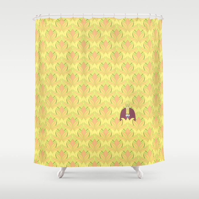 DOUBLE KING: Field Day Shower Curtain