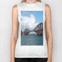 scotland Biker Tanks featuring Forth Bridge, Scotland by Phil Smyth