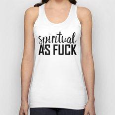 spiritual as fuck Unisex Tank Top
