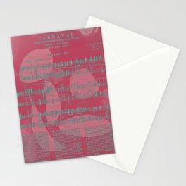 Schumann Sheet Musical - Carnaval Stationery Cards