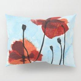 Paper Poppies Pillow Sham