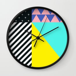 Memphis pattern 90 Wall Clock