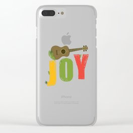 Ukulele Joy Clear iPhone Case