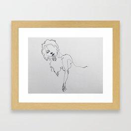 Esmé Lounging Framed Art Print