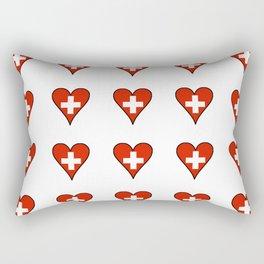 flag Switzerland 3-,Swiss,Schweizer, Suisse,Helvetic,zurich,geneva,bern,godard,heidi Rectangular Pillow
