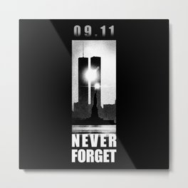 09,11 - September 11 attacks - New York - World Trade Center Metal Print