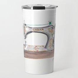 Vintage Singer Sewing Machine  Travel Mug