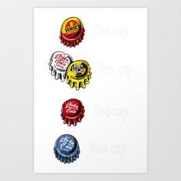 Bottle Caps Fever Art Print