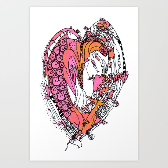 Anatomy Of a Heart Art Print
