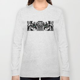 Dressed To Kill - White Tiger Art By Sharon Cummings Long Sleeve T-shirt