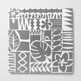 Chachani - Gray Metal Print