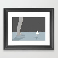 Small swan Framed Art Print