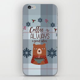 Bearrific Coffeelicious Christmas iPhone Skin