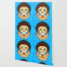 Dia de los Muertos Senora de las Rosas / Day of the Dead Lady of the Roses Wallpaper