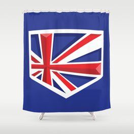 Montgomery Brits Logo Shower Curtain