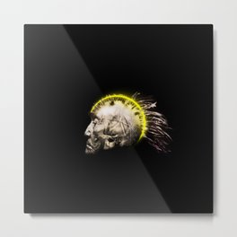 Cyber Punk Chief Metal Print