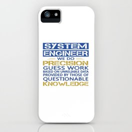 SYSTEM ENGINEER iPhone Case