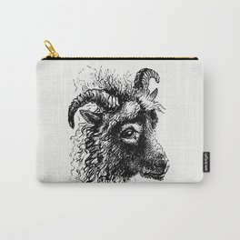 Goat from Aileen Aroon a Memoir of a dog With Other Tales of Faithful Friends and Favourites Sketche Carry-All Pouch