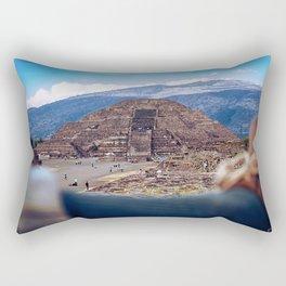 Ancient world in a modern world Rectangular Pillow