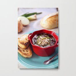 French Onion Soup Metal Print