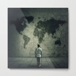 searching a destination Metal Print
