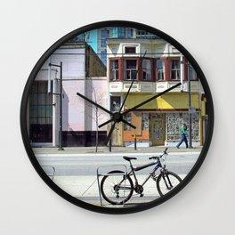 Bike on Granville  Wall Clock