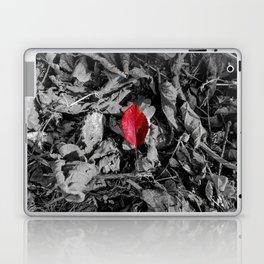 Red detail on black and white Laptop & iPad Skin