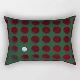 One dot doesn't conform to the norm! Be different! Stand out! Rebel! Rectangular Pillow