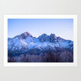 Twin Peaks, Alaska Art Print