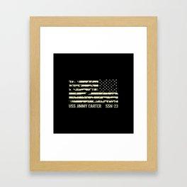 USS Jimmy Carter Framed Art Print
