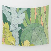 cacti Wall Tapestries featuring Cacti by Julia Walters Illustration