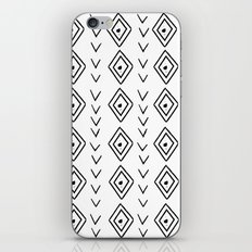 mudcloth 9 minimal textured black and white pattern home decor minimalist beach iPhone & iPod Skin