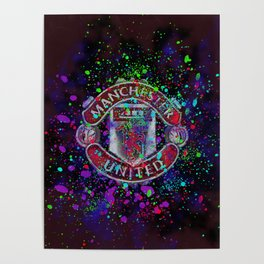 Watercolor Manchester United Poster